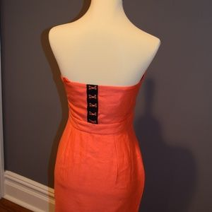 Urban Outfitters Dresses - Bright Orange Strapless Dress